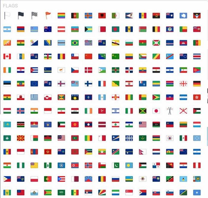 iCon facebook cờ các quốc gia