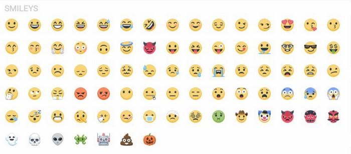 iCon facebook dạng mặt cười (Smileys )