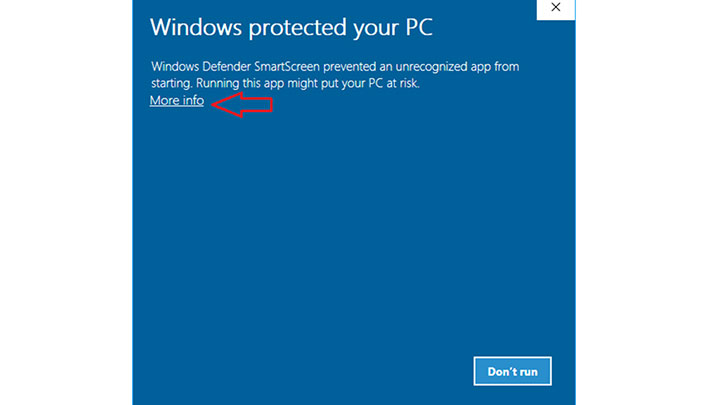 cảnh báotrong SmartScreen của Windows Defender