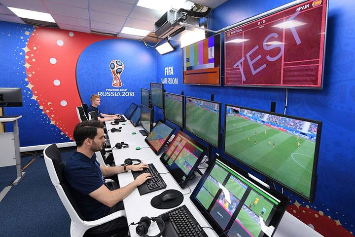 Các video được stream trực tiếp từ sân vận động