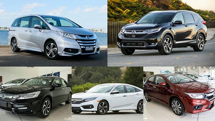 Bảng giá xe ô tô Honda tháng 7/2018 cập nhật mới nhất