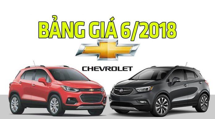 Bảng giá xe Chevrolet tháng 6/2018 mới nhất hôm nay
