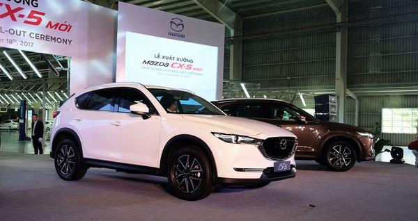 Bảng giá bán xe Mazda CX 5 2018 tháng 8/2018