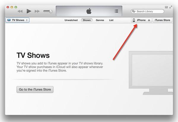 Thử kết nối với iTunes