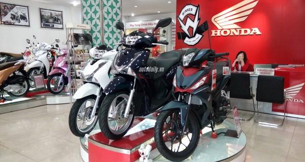 Bảng giá xe máy Honda tháng 9/2018 tại Việt Nam