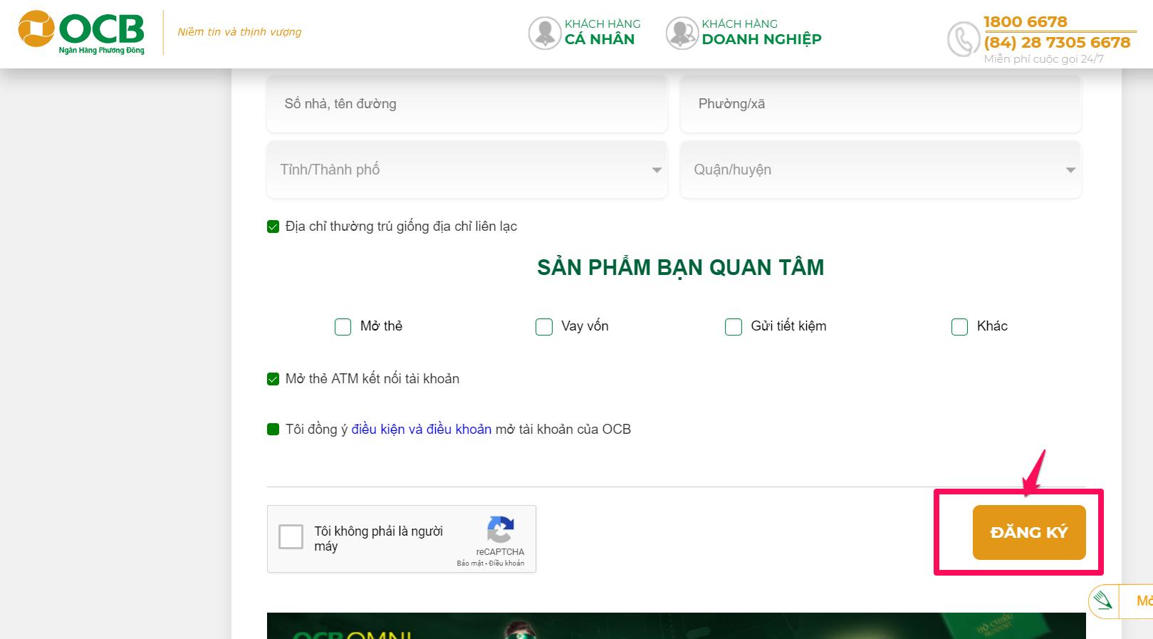 Ngân hàng Phương Đông (OCB): ocb.com.vn/vi/dang-ky-ca-nhan.html