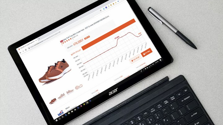 Công cụ xem biểu đồ giá khi mua hàng trên Shopee