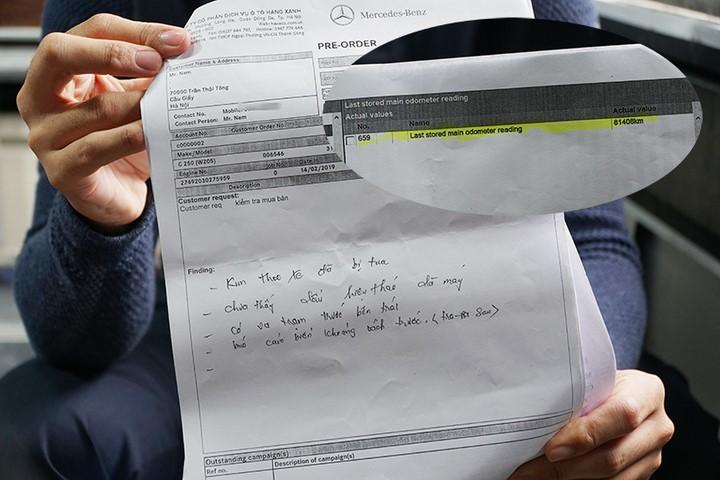 Thông tin về xe bị chỉnh số kilomet chỉ có được sau khi anh Nam đem vào đại lý chính hãng.