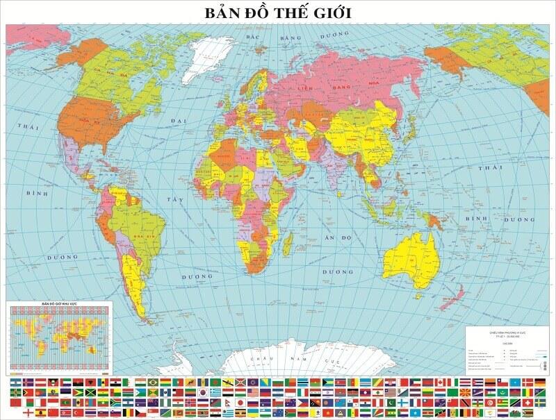 Khám phá bản đồ thế giới - Kiến thức cơ bản về bản đồ của 6 châu lục hiện nay