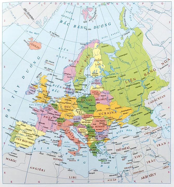 Bản đồ thế giới của Châu Á