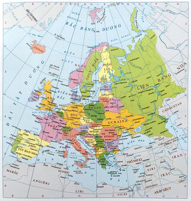 Bản đồ thế giới của Châu Âu