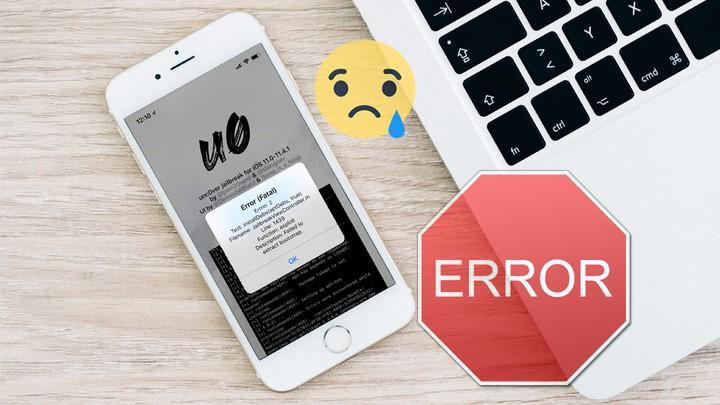 Các lỗi có thể gặp phải khi jailbreak iOS 12 bằng unc0ver và cách khắc phục