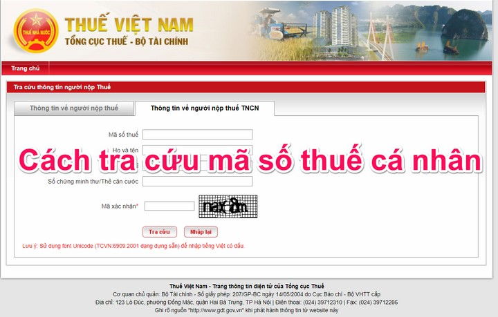 Hướng dẫn cách tra cứu mã số thuế (MST) cá nhân