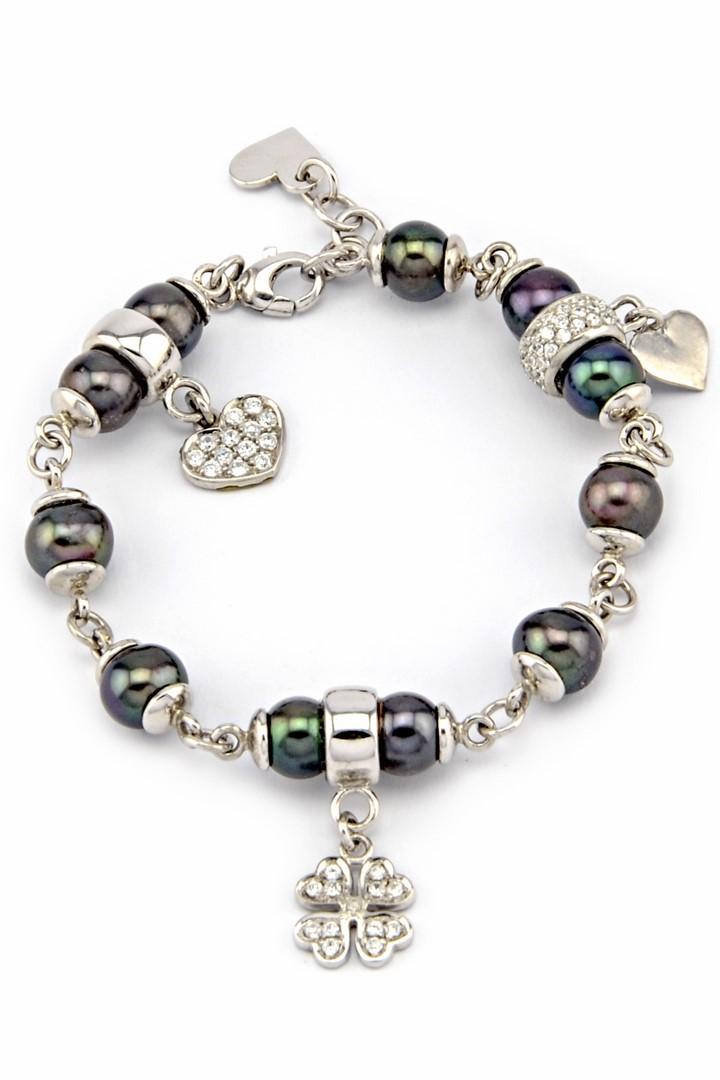 Lắc Tay Charm Bạc 925 Phối Ngọc Trai Pearl Silver 925 Charm Bracelet