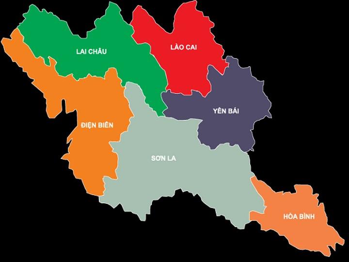 Bản đồ Việt Nam (Tây bắc bộ)