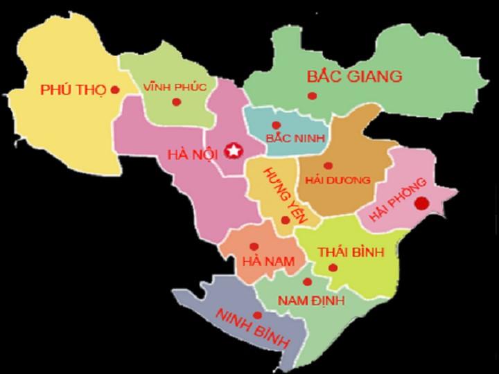 Bản đồ Việt Nam (Đồng Bằng Sông Hồng)