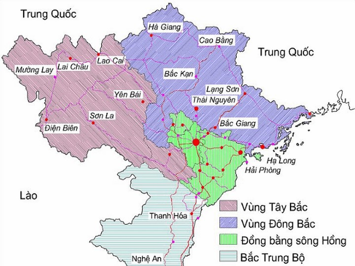 Bản đồ Việt Nam (Đông Bắc Bộ)
