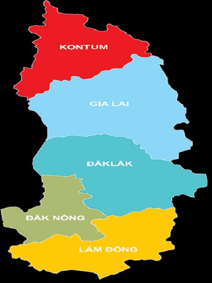 Bản đồ Việt Nam (Tây Nguyên)
