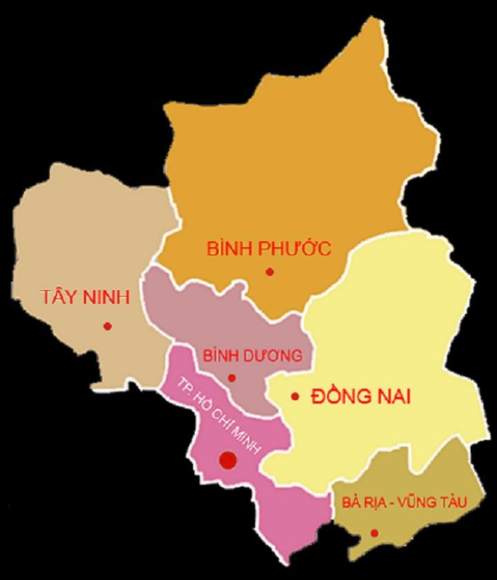 Bản đồ Việt Nam (Đông Nam Bộ (hay còn gọi là Miền Đông))