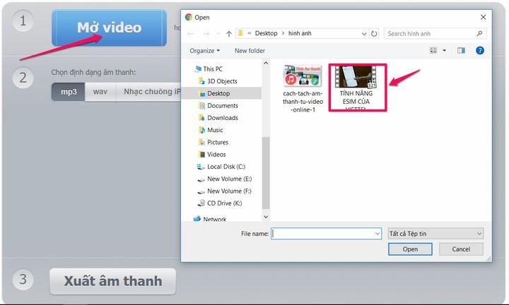 Cách tách âm thanh từ video online trực tuyến không cần dùng phần mềm