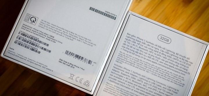 Phân biệt iPhone X lock thông qua vỏ hộp