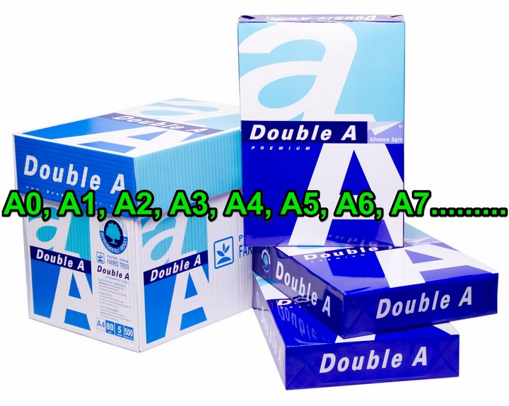 Kích thước chuẩn của khổ giấy in : A0, A1, A2, A3, A4, A5, A6, A7
