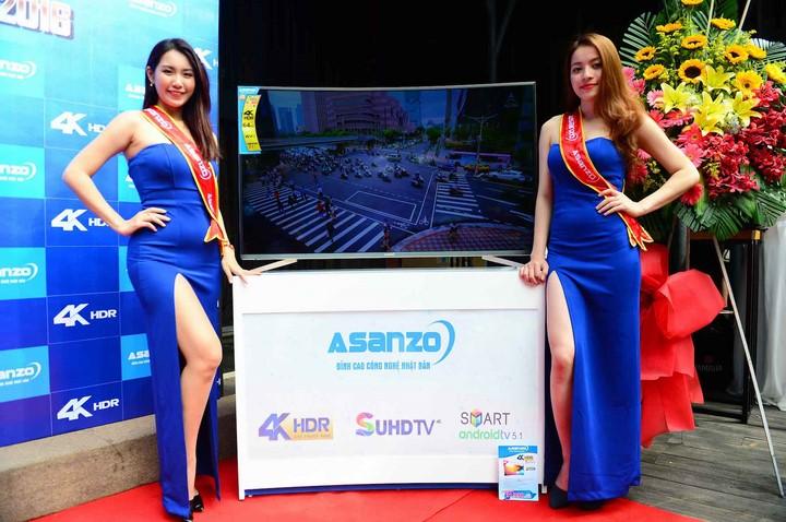 Asanzo ra mắt tivi màn hình cong 4K