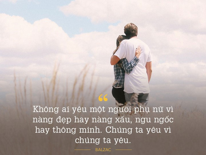 Khi yêu một người mà không bị tác động bởi bất kỳ điều gì, thì đó mới chính là tình yêu