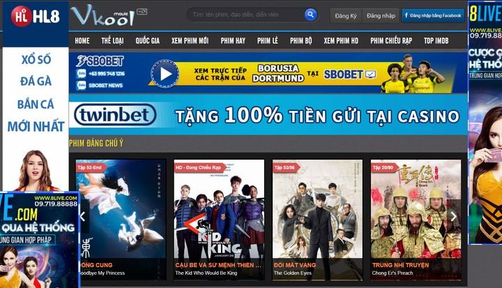 web xem phim trực tuyến vkool.tv