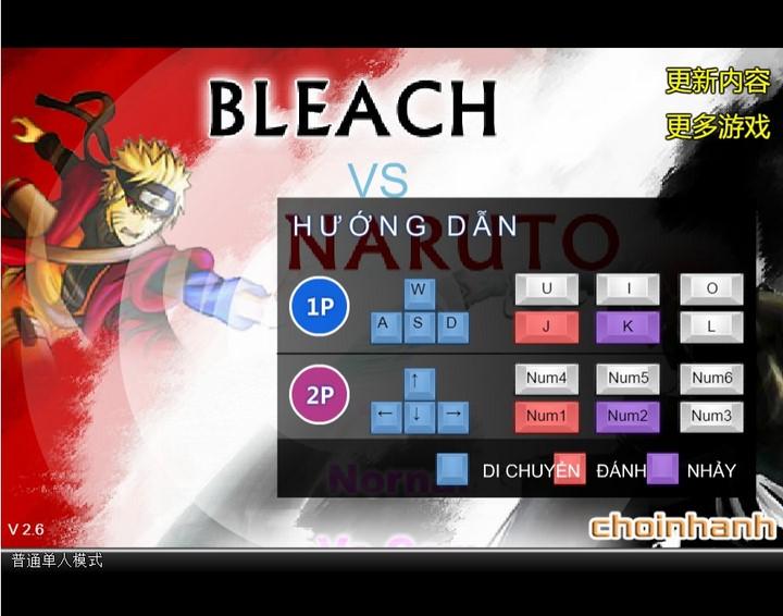 Hướng dẫn cách chơi Bleach vs Naruto