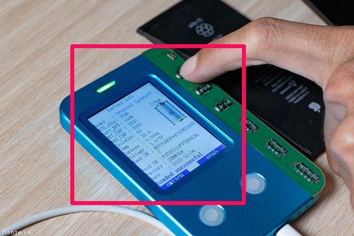 Thông tin pin được báo trên thiết bị sau khi bị ghi đè thông tin mới
