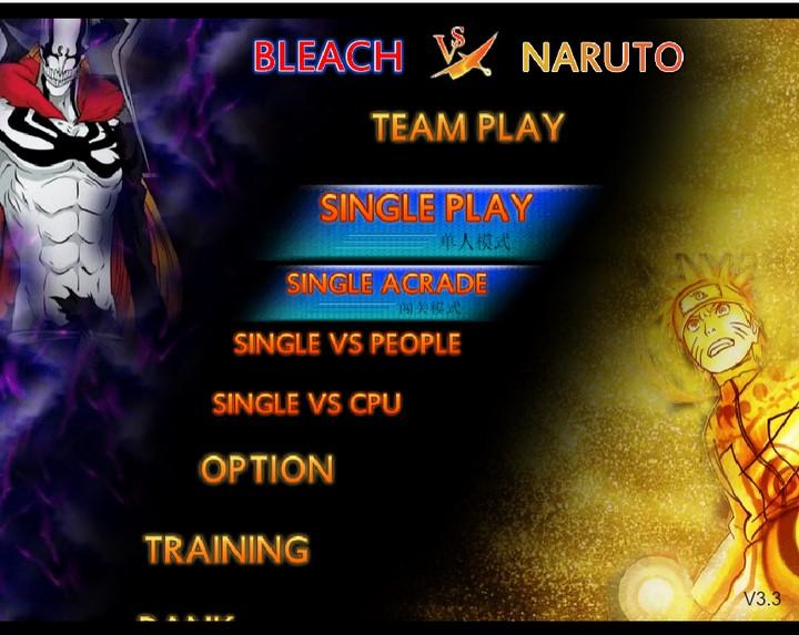 chế độ chơi Bleach vs Naruto