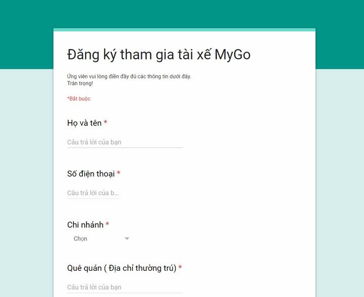 Đăng ký làm đối tác MyGo trực triếp với Viettel Post