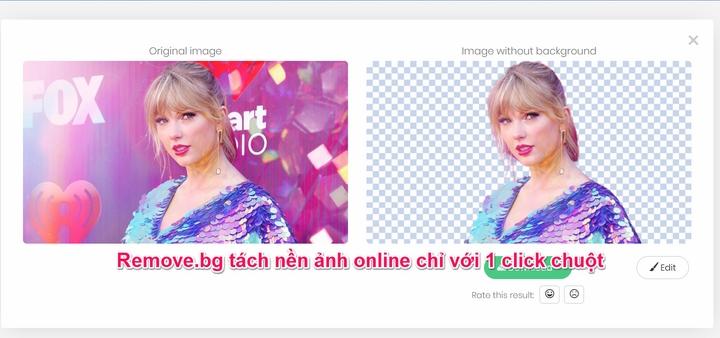 Remove.bg : Tách phông nền hình ảnh online chỉ với một cú click chuột
