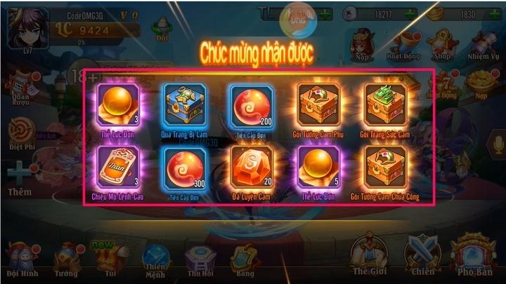 Hướng dẫn cách sử dụng Gift Code Omg 3Q để nhận quà