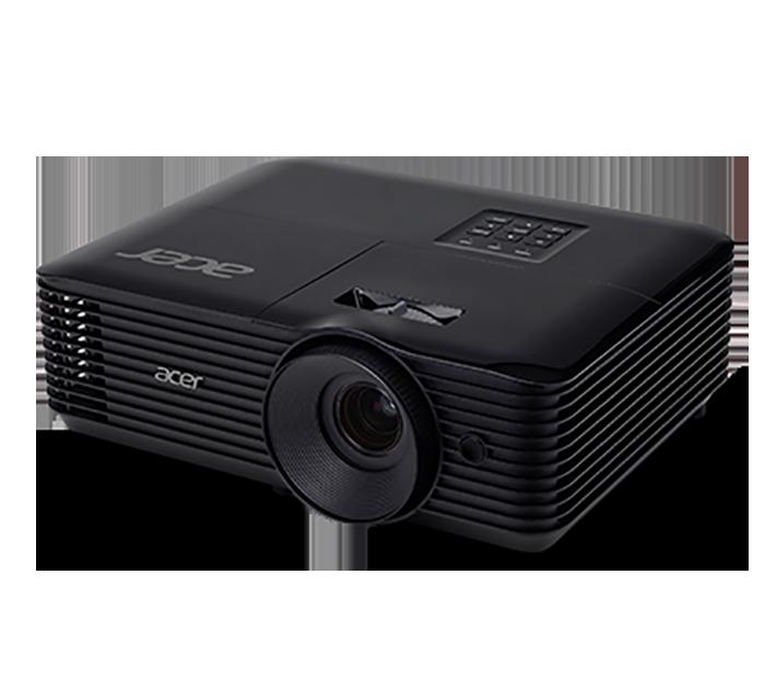 Acer X128H thiết kế màu đen trông khá là sang trọng