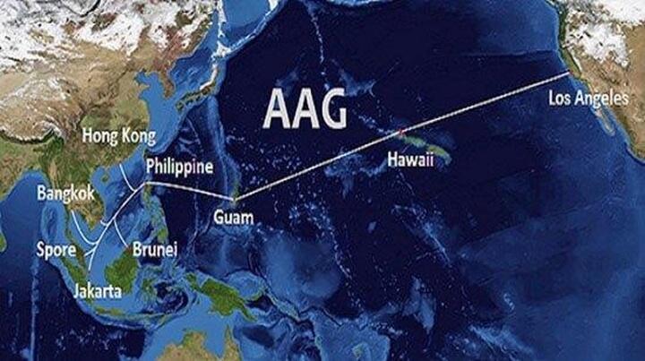 Cáp biển AAG gặp sự cố