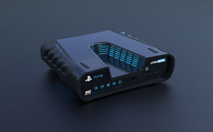 Ảnh concept Sony Playstation 5 đẹp mê hồn