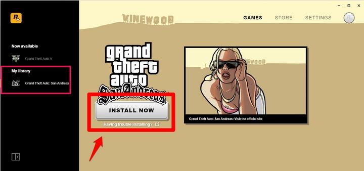 Grand Theft Auto: San Andreas đã cập nhật vào thư viện