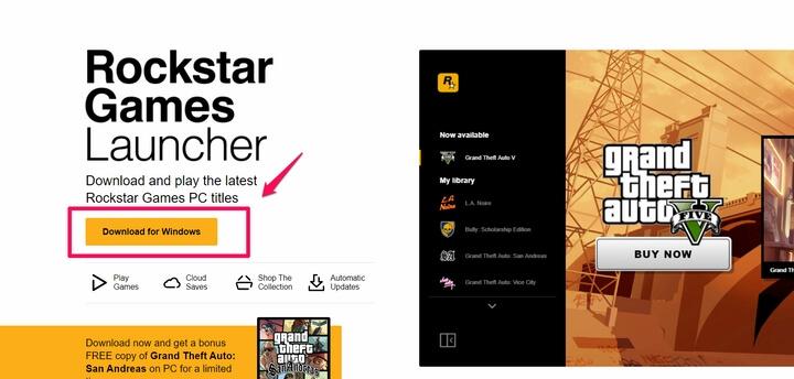 tải về Rockstar Games Launcher (Windows) về máy tính