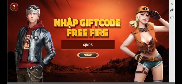 Gõ mã giftcode