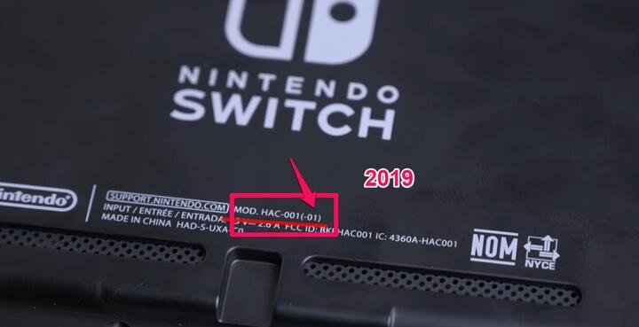 Nintendo Switch 2019 sẽ bắt đầu bằng các ký tự : MOD - HAC - 001(01)