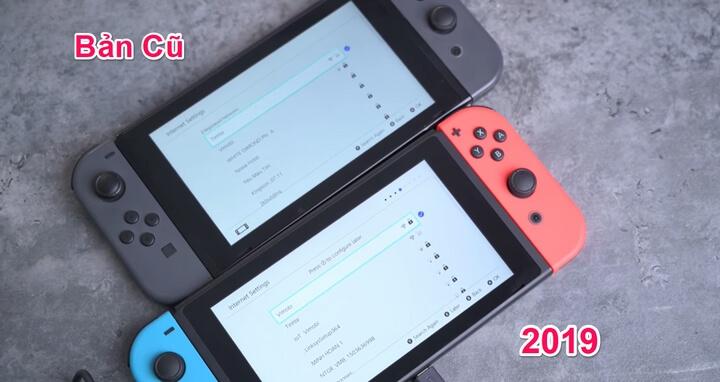 Switch 2019 hơi ngả vàng hơn, còn Switch cũ thì hơi ngả xanh hơn.
