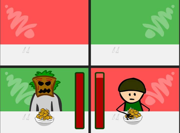 game thi xem ai ăn nhanh hơn Bad Guys: Christmas Dinner