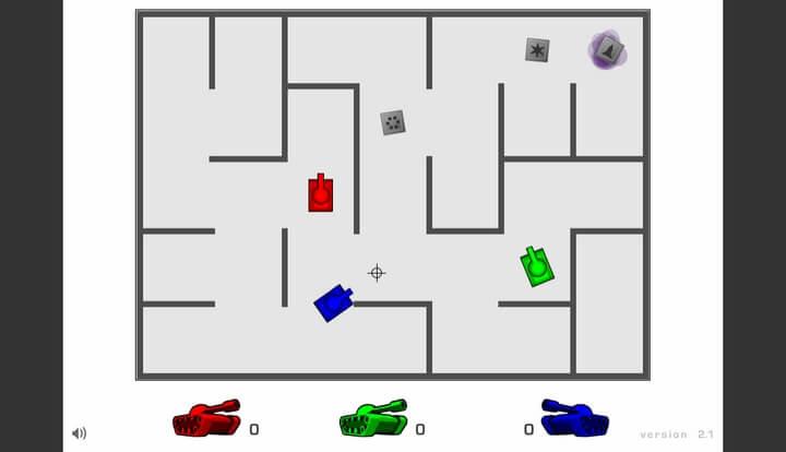 AZ game bắn xe tăng 3 người chơi trên y8