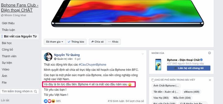 CEO Bkav - Xác nhận Bphone 4 sẽ ra mắt vào năm sau