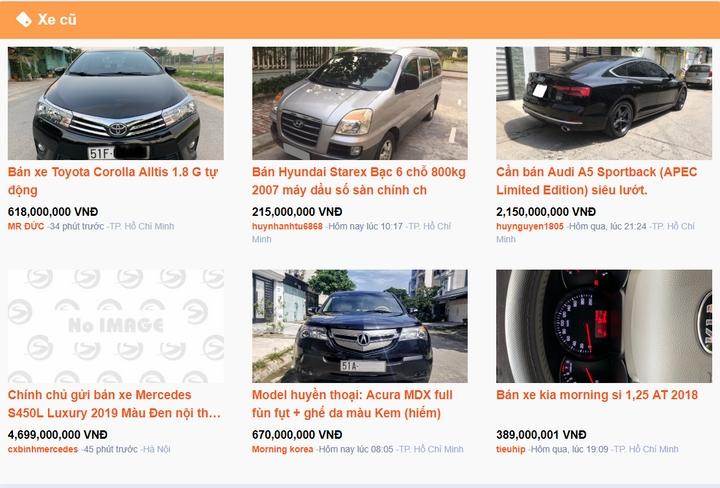 Chuyên mục mua bán xe cũ