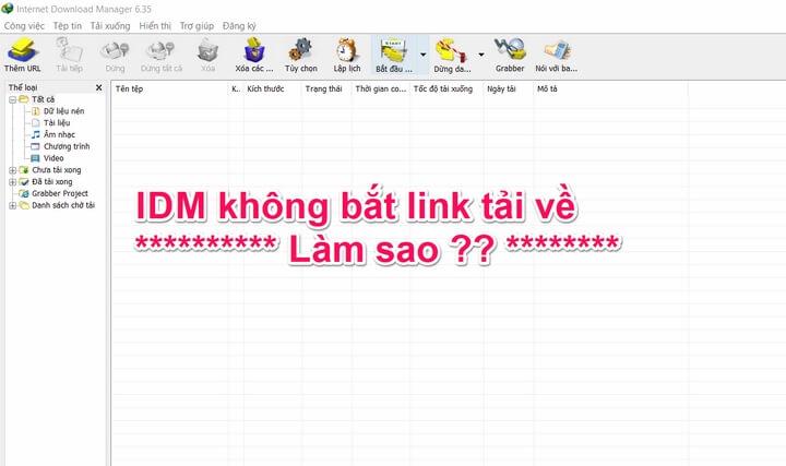 IDM không bắt link tải về trên facebook, youtube, chrome, cốc cốc