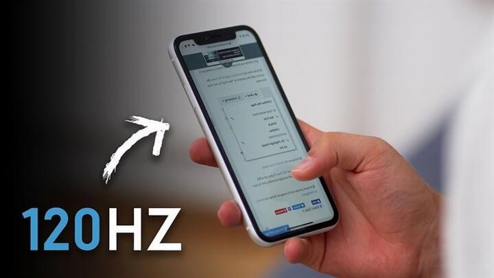 """iPhone 2020 sẽ có màn hình """"ProMotion"""" tốc độ làm tươi 120Hz"""