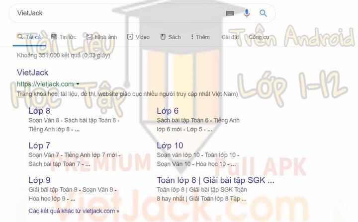 vietjack.com thuộc về Công Ty TNHH Đầu Tư Giáo Dục VIETJACK có trụ sở Hà Nội.